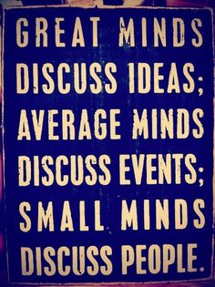 Great minds...