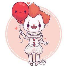 🎈 Feel free while it's October to request any creepy characters 💀💕 Kawaii Chibi, Cute Chibi, Kawaii Art, Anime Kawaii, Cute Drawings Of Love, Cute Kawaii Drawings, Cute Animal Drawings, Kawaii Halloween, Halloween Art