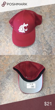 9e1dc94a504 Washington State Cougars Nike Flex Fit Hat Cap Brand new with tags  officially licensed Washington State Cougars Nike Flex Fit Hat Nike  Accessories Hats