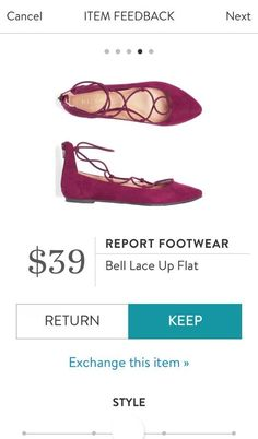 Would love a pair of these in gray or black!  REPORT FOOTWEAR Bell Lace Up Flat from Stitch Fix. https://www.stitchfix.com/referral/4292370