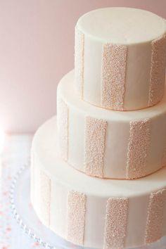 DIY: Striped Sprinkle Cake- we've got the full tutorial by Erica Obrien Cake Design! Fondant Cakes, Cupcake Cakes, Cupcakes, Gorgeous Cakes, Pretty Cakes, Amazing Cakes, Sprinkle Cookies, Blush Pink Weddings, Wedding Blush