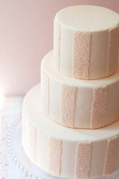 Striped sprinkle cake