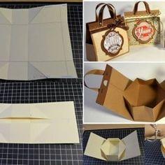 Mini Cardboard Bag for Presents - DIY //alldaychic.com