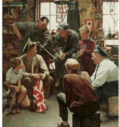 Norman Rockwell WW2 painting