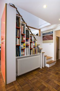 Steuart's multifunctional bookcase and staircase on MADE.COM Unboxed