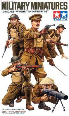 Tamiya Military Miniatures 1:35 Scale WWI British Infantry Set