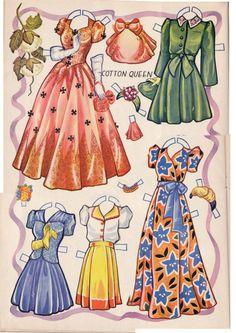 Kathleen Taylor's Dakota Dreams: Thursday Tab- Saalfield 1944- Festival Paper Dolls