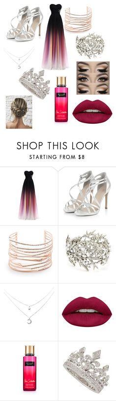 """Dance"" by dylanandclaire ❤ liked on Polyvore featuring Alexis Bittar, Oscar de la Renta, Huda Beauty, Victoria's Secret and Garrard"