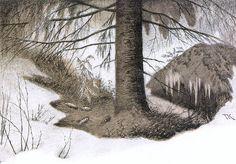 Bilderesultat for Theodor Kittelsen Theodore Kittelsen, A4 Poster, Poster Prints, Art Nouveau, Most Popular Artists, Pointillism, Nature Paintings, Vintage Artwork, Impressionism