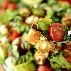 Southwest Summer Salad | Ripe and just a little bit spicy, this salad is a new summer fave.