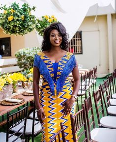 Claude Kameni of luxury haute Ankara Red-Carpet dresses at Diyanu African Fashion Ankara, Latest African Fashion Dresses, African Print Fashion, Africa Fashion, African Wedding Attire, African Attire, African Wear, Ghana Wedding Dress, African Dresses For Kids