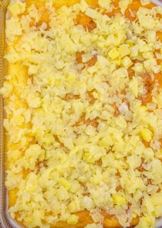 Piña Colada Poke Cake is made easy by using a butter cake mix poked with cream of coconut. Popcorn Recipes, Snack Recipes, Dessert Recipes, Crushed Pineapple Cake, Pina Colada Cake, Box Cake Recipes, Summer Cakes, Cake Videos, Cake Toppings