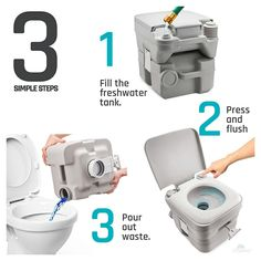 Best travel toilet...No water, no chemicals, no compost, no smell ...