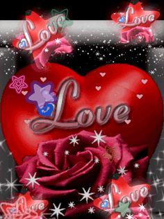 immagini love glitter Beautiful Love Pictures, Romantic Pictures, Beautiful Gif, Beautiful Roses, Love Heart Gif, Love You Gif, Love You Images, Good Morning Roses, Good Morning My Love