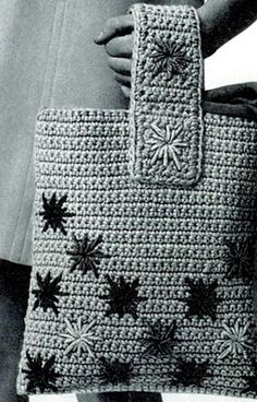 NEW! Flower Tote crochet pattern from American Thread, Star Book 218.
