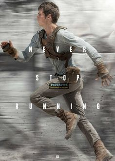 The Maze Runner Never Stop Running Poster No AS111 via PopKartSg. Click on the image to see more!