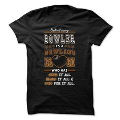 Behind a Bowling guy is a Bowling mom - 0615 #tee #hoodie