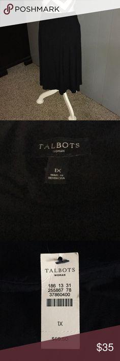 NWT Talbots Black Skirt Size 1X NWT  1/18 Talbots Skirts Midi