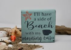 "Thanks for the kind words! ★★★★★ ""I love my Beach/Coffee sign! I can't wait to use it on my new coffee bar. I'll add a pic as soon as I have it set up. Thank you for your quick delivery and kind responses to my questions. Cottage Signs, Beach Cottage Decor, Coffee Lover Gifts, Gift For Lover, Teacher Appreciation Gifts, Teacher Gifts, Beach Paint Colors, Shabby Chic Beach, 21st Gifts"