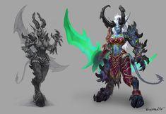 Female Dark Elf Demon Hunter from World of Warcraft: Legion