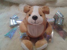 doudou ours fait-main or et blanc, ours cadeau de Noël @ lemarchedufaitmain Vente créations fait main, achat de créations fait main, boutique de vente layette fait-main, vêtements enfants tricotés aux aiguilles ou costumisés, layette moderne fait main...