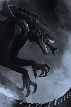 Xenomorph types overview from the Alien movies. Included are the facehugger, chestburster, warrior, predalien and queen Xenomorph types. The Darkness, Arte Alien, Alien Art, Alien Convenant, Alien Pics, Alien Pictures, Michael Turner, Xenomorph Types, Giger Alien