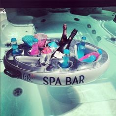Life Floating Spa Bar Inflatable Hot Tub Side Tray for Drinks and Snacks: Amazon.co.uk: Toys & Games