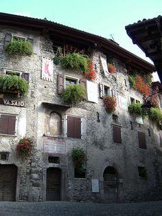Village Tremosine, Lake Garda, Lombardy, Italy, province of Brescia