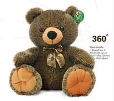 love this teddy bear.  THE LINK :  http://www.joyfay.com/us/giant-huge-21-54cm-dual-color-brown-green-teddy-bear-stuffed-plush-toy-with-tie.html