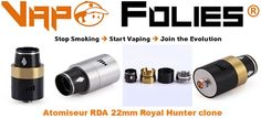 #Atomiseur #RDA 22mm #Royal #Hunter clone – 6.42€