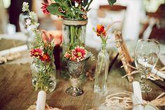 farm table floral arrangements - Google Search