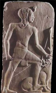 Ramesses II ~ Notice the side lock of hair he wears, as a young boy.
