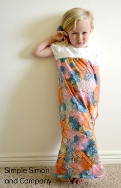 Little girl Maxi Dress Tutorial