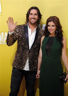 Jake Owen and Lacey Buchanan Owen arrive at the 46th annual Country Music Awards at the Bridgestone Arena in Nashville on Nov. 1, 2012. See more stars at the 2102 CMA Awards on Wonderwall: http://wonderwall.msn.com/music/2012-cma-awards-22271.gallery?photoId=98138