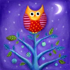 Ileana Oakley - xmas owl tree.jpg