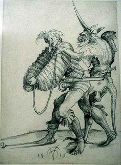 Landsknecht und Teufel, 1516