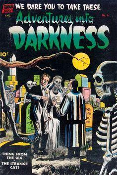 GCD :: Cover :: Adventures into Darkness Comic Book Characters, Comic Books Art, Book Art, Horror Comics, Marvel Comics, Planet Comics, Comic 8, Action Toys, Film D'animation