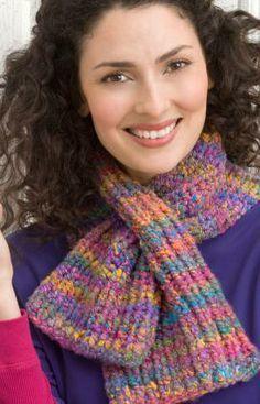 Keyhole Knit Scarf..free pattern