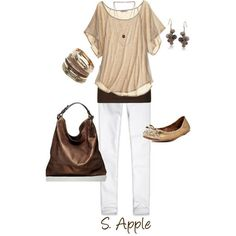 Summer Outfit. Top $49 calypsostbarth.com http://sapple324.polyvore.com/