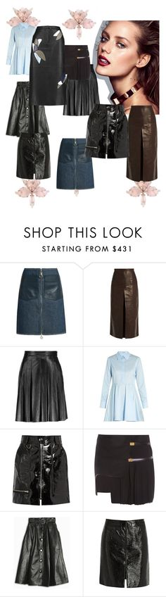 """""""My Leather Skirt! You o"""" by lalu-papa ❤ liked on Polyvore featuring Edun, Rachel Comey, Belstaff, STELLA McCARTNEY, Isabel Marant, Anthony Vaccarello, A.W.A.K.E., Courrèges and TIBI"""