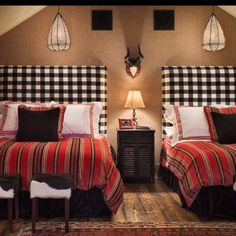 love these headboards  for a boys room.
