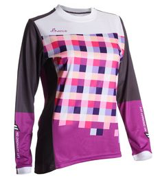 Gravity Jersey - Purple Checkers by DHaRCO