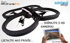 AR.Drone 2.0 - Lietajte ako profík a zaznamenávajte na HD kameru s AR.DRONE 2.0 teraz aj v špeciálnej Elite edícii s maskovaním piesok, džungľa alebo sneh.