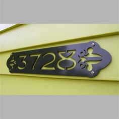 CUSTOM Victorian Style House Numbers In Powder Coated Aluminum