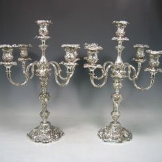 Really love these antique silver candlabras