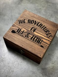 Adventure box Keepsake box Wooden box Memory box Unique gift idea Anniversary gift Wanderlust & Military Keepsake Box Military Gift Keepsake Box Personalized ...