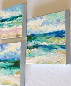beach paintings // ocean art // kendallkirkart.com