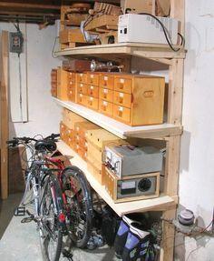 How to build shelves Diy Storage Shelves, Lumber Storage, Barn Storage, Diy Garage Storage, Garage Shelving, Workshop Storage, Garage Shelf, Tool Storage, Wood Shelves