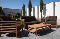 wood furniture for outdoor living spaces
