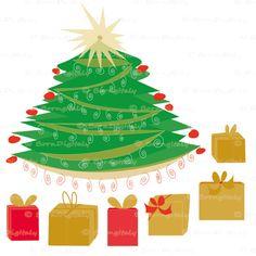 Christmas Tree Clipart #printable #christmas #holiday #graphcs #digital #clipart #xmas #gifts #illustration #crafts #decor #scrapbooking #blog #design